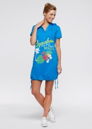 Robe de plage mi-manches, bpc bonprix collection, bleu marine