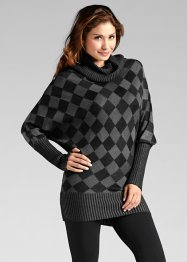 Pull long, BODYFLIRT, anthracite chiné