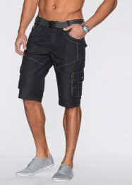 Bermuda en jean Loose Fit, RAINBOW, noir