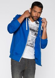 Gilet sweat-shirt Slim Fit, RAINBOW, bleu azur