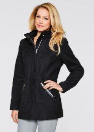 Veste aspect laine, bpc bonprix collection, noir