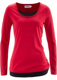 T-shirt manches longues, John Baner JEANSWEAR, rouge