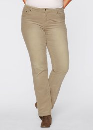 Pantalon en velours côtelé STRAIGHT, John Baner JEANSWEAR, jaune or used