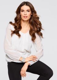 Blouse-tunique, bpc selection, blanc cassé