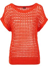 Pull manches courtes, BODYFLIRT, orange sanguine