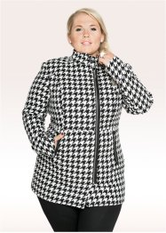 Manteau - designed by Maite Kelly, bpc bonprix collection, noir/blanc cassé à motif