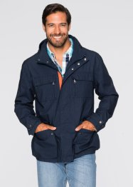 Veste en coton Regular Fit, bpc bonprix collection, bleu foncé