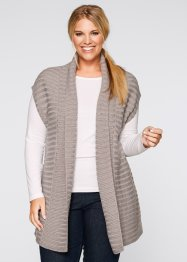Gilet sans manches, bpc bonprix collection, gris clair chiné