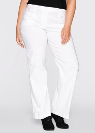 Pantalon droit en bengaline, bpc bonprix collection, blanc