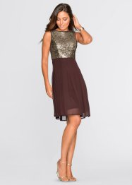 Robe, BODYFLIRT, marron/doré