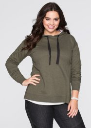 Sweat-shirt oversize, RAINBOW, olive