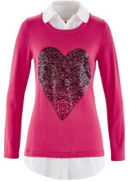 Pull 2 en 1, bpc bonprix collection, fuchsia moyen