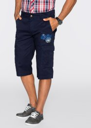 Bermuda long Regular Fit, bpc bonprix collection, bleu foncé