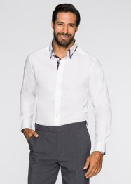 Chemise manches longues Slim Fit, bpc selection, blanc