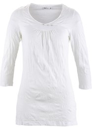 T-shirt froissé manches 3/4, bpc bonprix collection, blanc