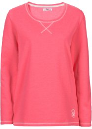 Sweat-shirt manches longues, bpc bonprix collection, fuchsia clair chiné