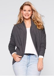 Cardigan sweat, bpc bonprix collection, anthracite chiné