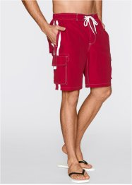 Bermuda de plage Regular Fit, bpc bonprix collection, rouge foncé