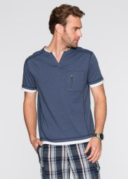 T-shirt Regular Fit, bpc bonprix collection, bleu foncé rayé