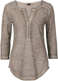 T-shirt effet used, BODYFLIRT, taupe