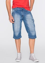 Bermuda long Loose Fit, John Baner JEANSWEAR, bleu moyen used