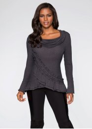 Sweat-shirt, BODYFLIRT boutique, gris