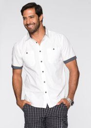 Chemise manches courtes Regular Fit, bpc bonprix collection, blanc