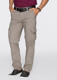Pantalon cargo léger Regular Fit Straight, bpc bonprix collection, pierre