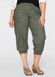 Pantalon cargo 3/4 extensible, bpc bonprix collection, olive