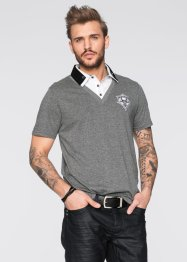 Polo Slim Fit, RAINBOW, noir