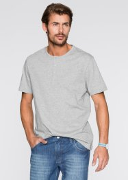 Lot de 3 T-shirts Regular Fit, bpc bonprix collection, gris clair chiné+anthracite chiné+noir