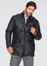 Veste longue simili cuir Regular Fit, bpc selection, noir