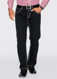 Pantalon extensible 5 poches Regular Fit Straight, bpc selection, noir