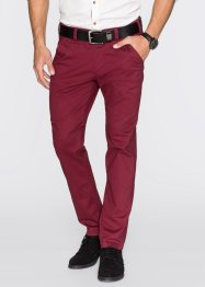 Pantalon chino extensible Slim Fit, droit, bpc bonprix collection, bordeaux