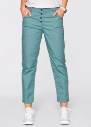 Pantalon chino 7/8 paper touch, bpc bonprix collection, bleu minéral