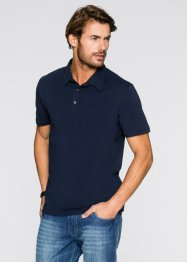 Polo extensible Slim Fit, bpc bonprix collection, blanc