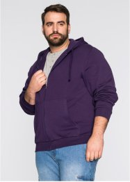 Gilet sweat-shirt à capuche Regular Fit, bpc bonprix collection, violet foncé