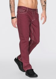 Jean Regular Fit Straight, RAINBOW, bordeaux