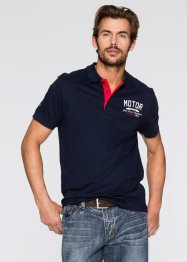 Polo Regular Fit, John Baner JEANSWEAR, bleu foncé/blanc