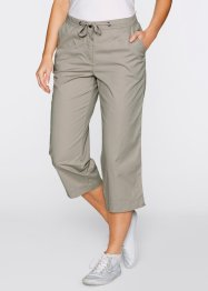 Pantalon 3/4 effet paper touch, bpc bonprix collection, gris pierre