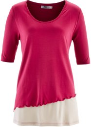 T-shirt 2en1 demi-manches, bpc bonprix collection, rouge baie