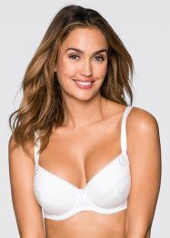 Lot de 2 soutiens-gorge push-up, bpc bonprix collection, blanc+noir