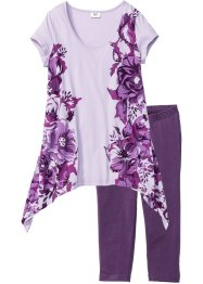 Pyjama corsaire, bpc bonprix collection, myrtille/lilas imprimé
