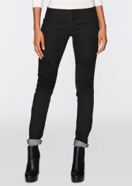 Jean extensible skinny, RAINBOW, noir denim