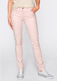 Pantalon en coton extensible straight, bpc bonprix collection, rose dragée