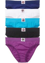 Lot de 5 slips, bpc bonprix collection, multicolore
