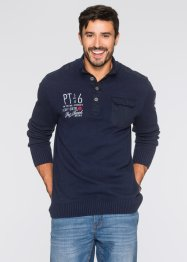 Pull camionneur Regular Fit, bpc bonprix collection, bleu foncé