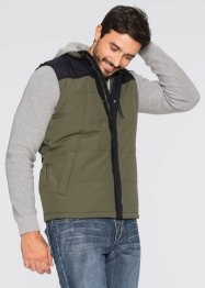 Gilet matelassé Regular Fit, bpc bonprix collection, olive foncé/noir