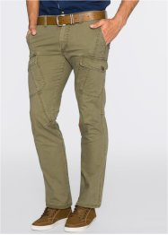Pantalon cargo Regular Fit, bpc bonprix collection, vert kaki