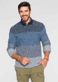 Pull Regular Fit, bpc bonprix collection, bleu clair chiné